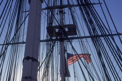 USS Constitution's Masts and Rigging, Boston--Photographic Print