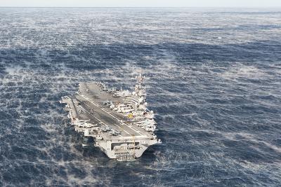 Uss George H.W. Bush Sails in the Atlantic Ocean--Photographic Print