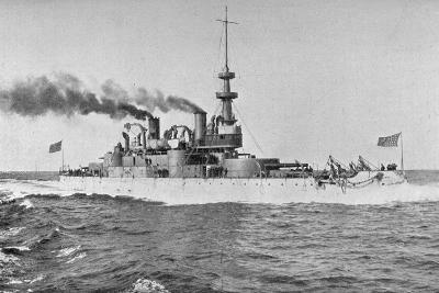 Uss 'Indiana, American Battleship, 1898-W Rau-Giclee Print