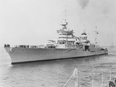 USS Indianapolis at Sea--Photographic Print