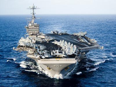 USS John C. Stennis Transits the Pacific Ocean-Stocktrek Images-Photographic Print