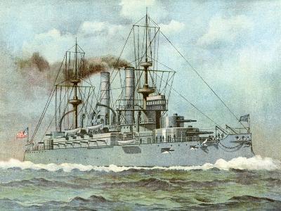 Uss 'Kearsarge, American Battleship, 1898--Giclee Print