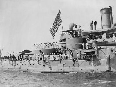 USS Massachusetts Warship--Photographic Print