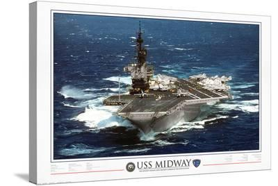 USS Midway - 1945 to 1997--Stretched Canvas Print