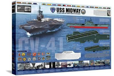 USS Midway - History--Stretched Canvas Print