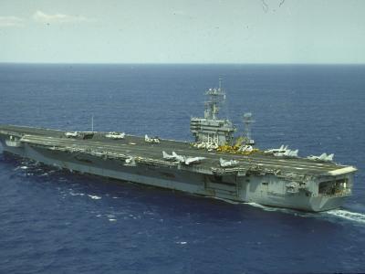 Uss Nimitz, Aircraft Carrier, Off VA--Premium Photographic Print