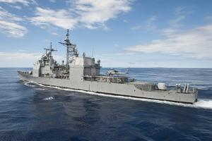 Uss Princeton Conducts Flight Operations with an Mh-60R Sea Hawk
