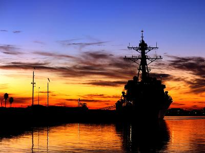 USS Spruance Is Pierside at Naval Weapons Station Seal Beach, California-Stocktrek Images-Photographic Print