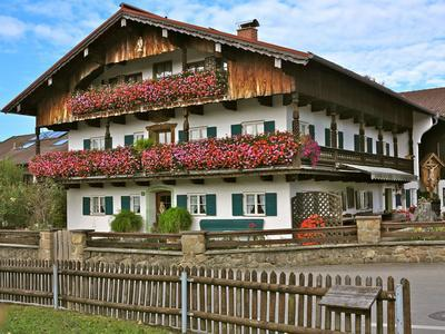 Farmhouse with Floral Decoration