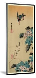 Ajisai Ni Kawasemi by Utagawa Hiroshige