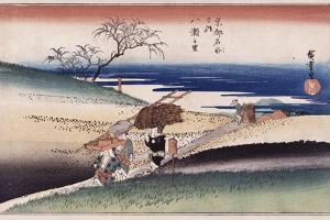 At Yase Village', from the Series 'Famous Places of Kyoto' by Utagawa Hiroshige
