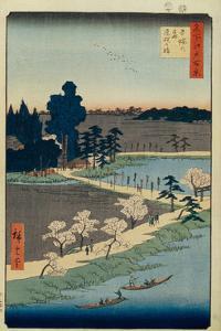 Azuma No Mori Shrine and the Entwined Camphor (One Hundred Famous Views of Ed), 1856-1858 by Utagawa Hiroshige