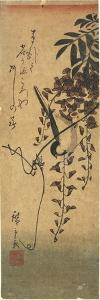 Bird on Wisteria Branch by Utagawa Hiroshige