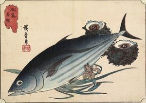 Bonito and Top Shells, Early 19th Century by Utagawa Hiroshige