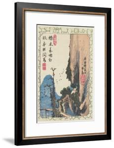 Bridge in a Gorge, 1831 by Utagawa Hiroshige