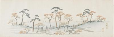 Colored Leaves at Kaianji Temple, 1837-1844 by Utagawa Hiroshige