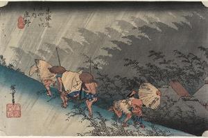 Driving Rain, Shono, C. 1833 by Utagawa Hiroshige