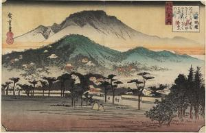 Evening Bells at Miidera Temple, C. 1834 by Utagawa Hiroshige
