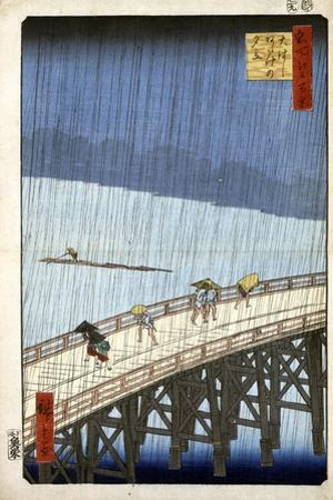Evening Shower at Atake and the Great Bridge, 1856-1858 by Utagawa Hiroshige