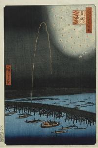 Fireworks at Ryogoku', from the Series, 'One Hundred Famous Views of Edo' by Utagawa Hiroshige