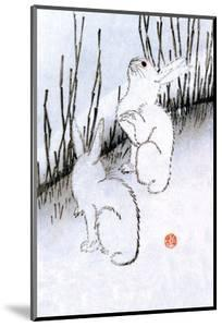 Hares in Grass under the Moon, 1830 by Utagawa Hiroshige