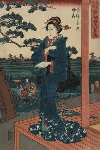 Iris Gaeden at Horikiri, April 1852 by Utagawa Hiroshige