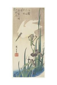 Irises and Heron, 1832-1834 by Utagawa Hiroshige