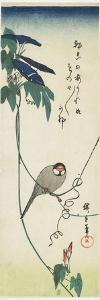 Java Sparrow and Morning Glories, 1834-1839 by Utagawa Hiroshige
