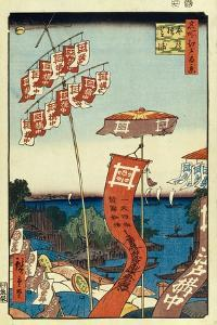 Kanasugi Bridge and Shibaura. (One Hundred Famous Views of Ed), C. 1858 by Utagawa Hiroshige