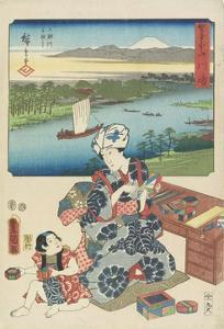 Kawasaki, July 1854 by Utagawa Hiroshige