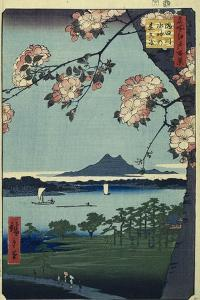 Massaki and the Suijin Grove by the Sumida River (One Hundred Famous Views of Edo). 1856-58 by Utagawa Hiroshige
