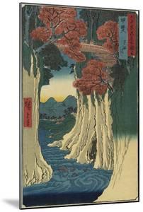 Monkey Bridge, Kai Province, August 1853 by Utagawa Hiroshige