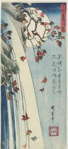 Moon Through Leaves, C. 1832 by Utagawa Hiroshige