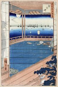 Moonlight (One Hundred Famous Views of Ed), 1856-1858 by Utagawa Hiroshige