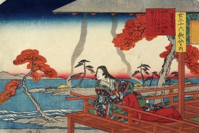Murasaki Shikibu, 1843-1847 by Utagawa Hiroshige