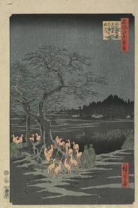 New Year's Eve Foxfires at the Hackberry Tree in O_Ji, 1857 by Utagawa Hiroshige