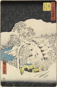No.38 Yamanaka Village in Fujikawa, July 1855 by Utagawa Hiroshige