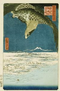 One Hundred Thousand- Tsubo Plain at Susaki, Fukagawa by Utagawa Hiroshige