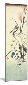 (Pampas Grass, Patrinia, Chinese Bellflower and a Crane), 1830-1858 by Utagawa Hiroshige