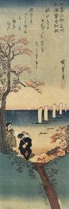 Red Maple Leaves at Kaian-Ji Temple, Autumn, 1833-1834 by Utagawa Hiroshige
