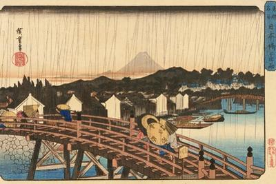Shower at Nihonbashi Bridge, 1832-1834 by Utagawa Hiroshige