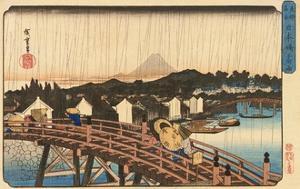 Shower at Nihonbashi Bridge, 1832-1834 by Utagawa Hiroshige