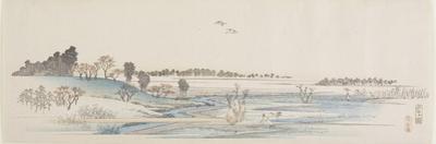 Sunset Hill, 1837-1844 by Utagawa Hiroshige