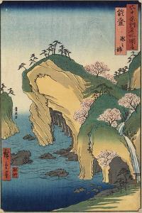 Takinoura Beach, Noto Province, September 1853 by Utagawa Hiroshige
