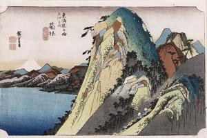 The Lake at Hakone', from the Series 'The Fifty-Three Stations of the Tokaido' by Utagawa Hiroshige