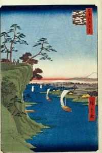 View of Konodai and the Tone River (One Hundred Famous Views of Ed), 1856-1858 by Utagawa Hiroshige