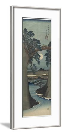 View of the Monkey Bridge in Koshu Province, 1841-1842