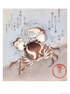 A Crab on the Seashore by Utagawa Kunisada