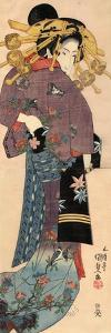 A Standing Bijin, Ca 1820 by Utagawa Kunisada