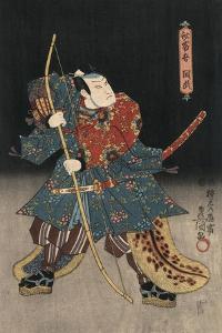 An Actor in the Role of Saitogo Kunitake by Utagawa Kunisada